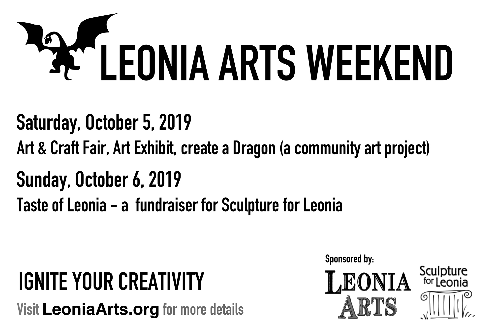 Leonia Arts Weekend - October 5 & 6, 2019